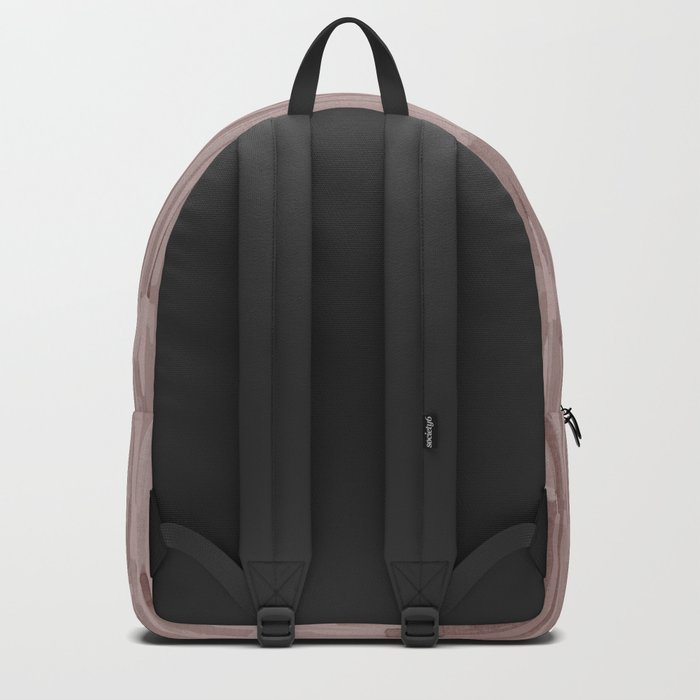 Simply Bamboo Brushstroke Red Earth on Clay Pink Backpack
