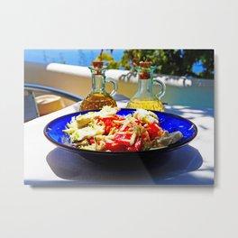 Aegean salad Metal Print