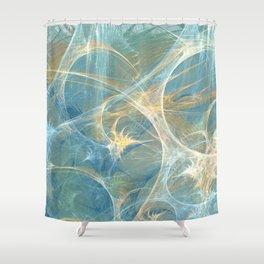 Whisper 3D Abstract Fractal Shower Curtain