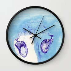 Two Lions Wall Clock