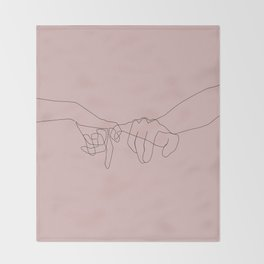 Blush Pinky Throw Blanket