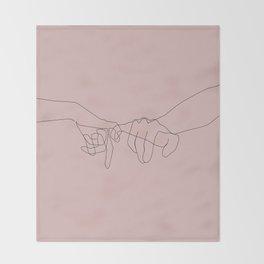 Blush Pinky Throw Blanket
