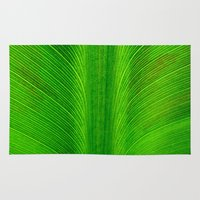 banana leaf Area & Throw Rugs featuring Banana Leaf by moo2me