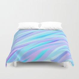 Pastel Pink, Purple, and Light Blue Stripes Duvet Cover