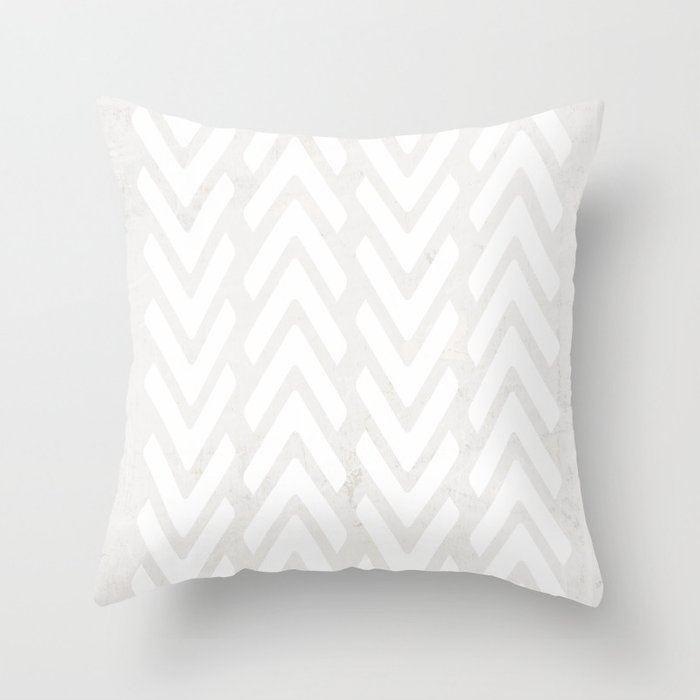 Chevron Tracks Throw Pillow