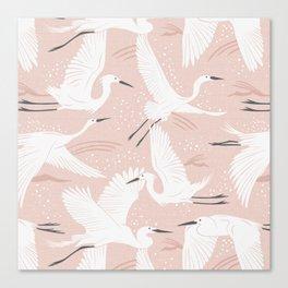 Soaring Wings - Blush Pink Canvas Print