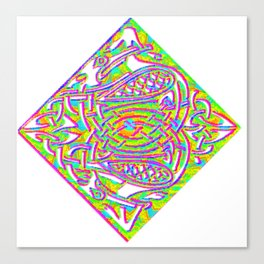 celtic knotted diamond Canvas Print