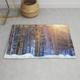 Evening in the Forest Rug