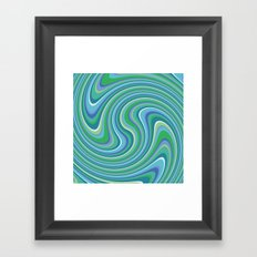 Twist and Shout-Oceania colorway Framed Art Print