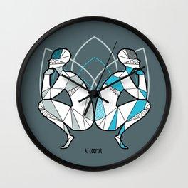Geometric geminis astrology Wall Clock