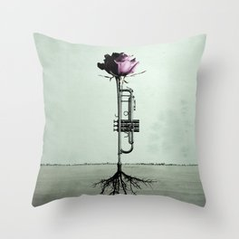 Rooted Sound III Throw Pillow