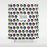 stephen king Shower Curtains featuring stephen hawking by Aya Rosen