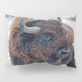 In The Presence Of Bison #society6 #decor #bison by Lena Owens @OLena Art Pillow Sham