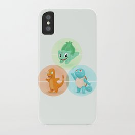 Poké: choose your starter iPhone Case