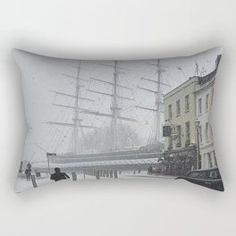 The Clipper in the snow Rectangular Pillow