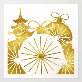 Gold Christmas 01 Art Print