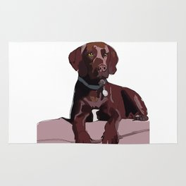 Chocolate Labrador Rug