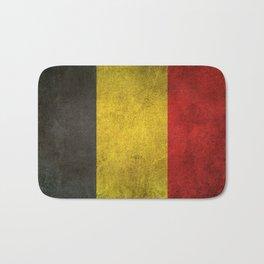 Old and Worn Distressed Vintage Flag of Belgium Bath Mat
