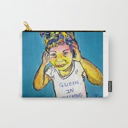 Black Queen in Training Carry-All Pouch