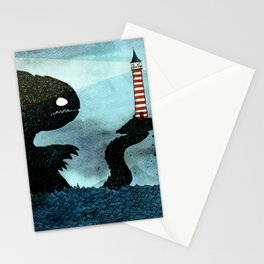 Lighthouse & Sea Monster Stationery Cards