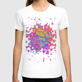 Heart leaf colorful T-shirt