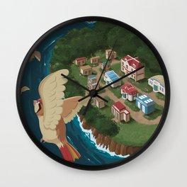 Cinnabar Island Travel Poster Wall Clock