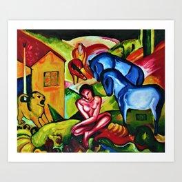 The Dream by Franz Marc Art Print