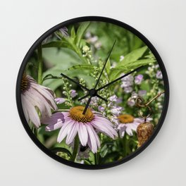 Dance of the Cone Flowers Wall Clock