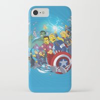 superheroes iPhone & iPod Cases featuring Superheroes by Adrien ADN Noterdaem