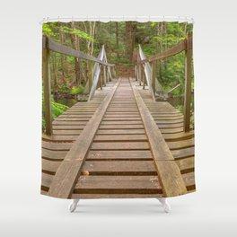 Forest Track Bridge Shower Curtain