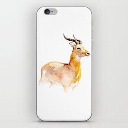 White-tailed Deer Watercolor Handmade Painting iPhone Skin