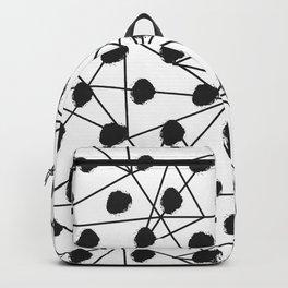 Geometrical black white watercolor polka dots Backpack