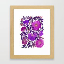 hand painted flowers_3b Framed Art Print
