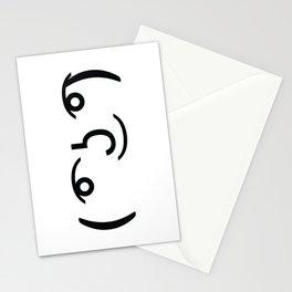 ( ͡° ͜ʖ ͡°) Funny Emoticon Face Stationery Cards
