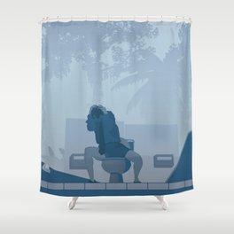Jurassic Park poster - feat. Donald Gennaro Shower Curtain
