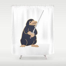 Godric's Sword Niffler Shower Curtain