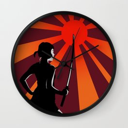 Warrior at Sunset Wall Clock