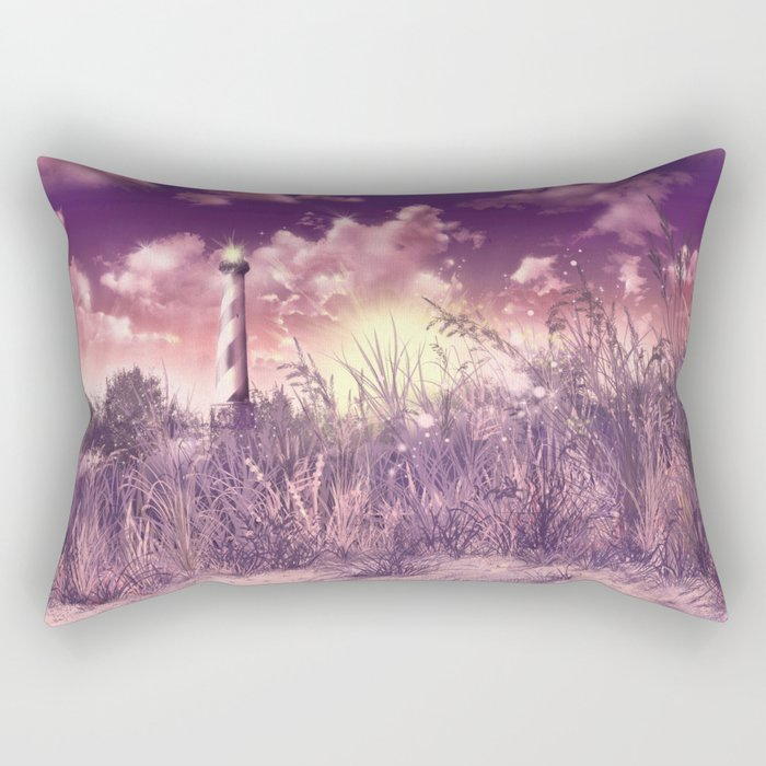 lighthouse landscape Rectangular Pillow