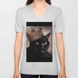 Black Cat - Queen Cora Unisex V-Neck