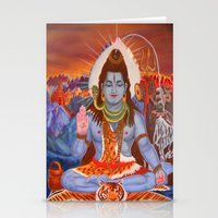 shiva Stationery Cards featuring Shiva by Antonimo-discipulosinmaestro