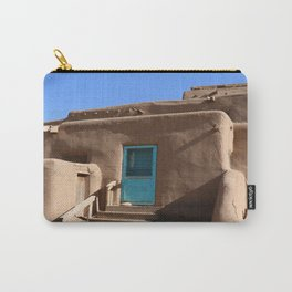 Taos Pueblo  Blue Door Carry-All Pouch