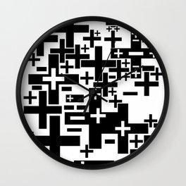 PLUS/MINUS Wall Clock