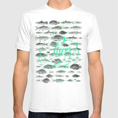 Pisces White Mens Fitted Tee MEDIUM