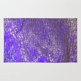 Blue Abstract Sparkly Design Rug