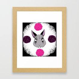 Kvlt Bunny Framed Art Print