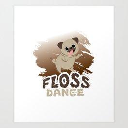 Floss Dance Move Pug Art Print