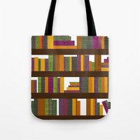 books Tote Bags featuring Books by Sara Robish Andrews
