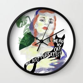 Purrrfect Wall Clock