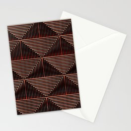Mesmerizing Squares Red - Art Deco Pattern Stationery Cards