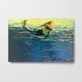 Mermaid Sun Salute at Dawn Metal Print